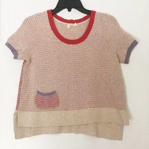 Antropologie MOTH Color-Block Hi-Low Knit Tee